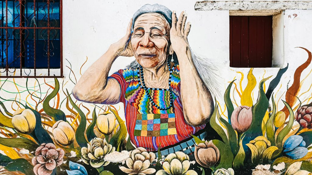 observe streetart in San Juan La Laguna | one of the best things to do at lake atitlan