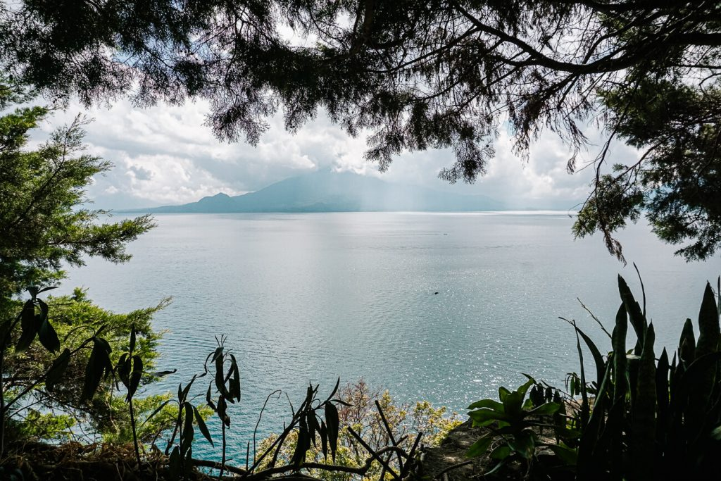 view over lake atitlan