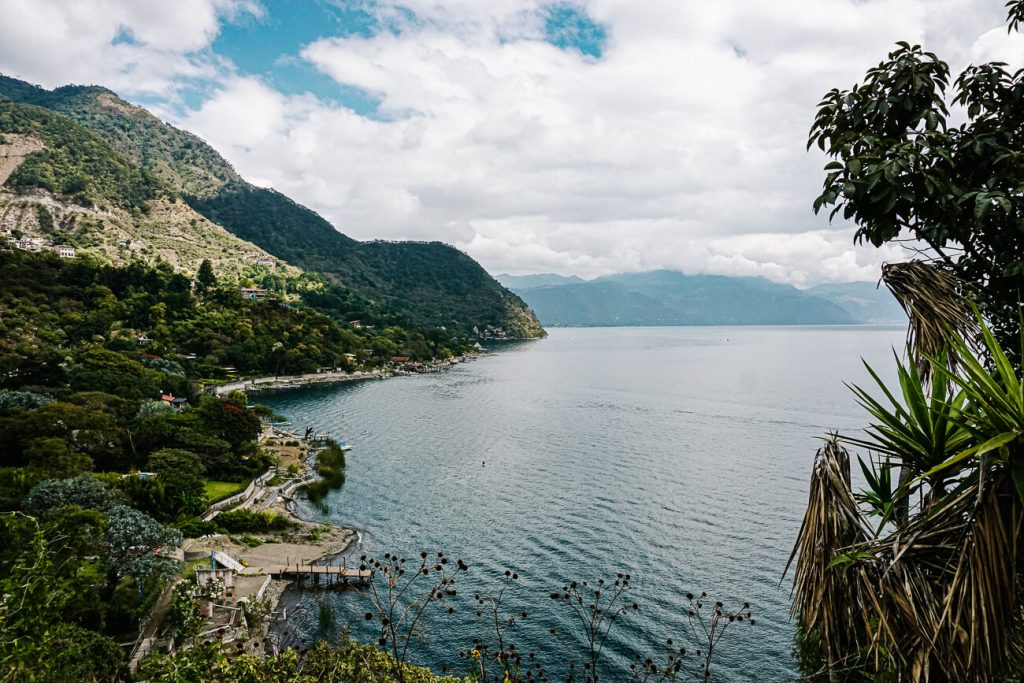 view over lake atitlan - hike from jaibailito to Santa Cruz