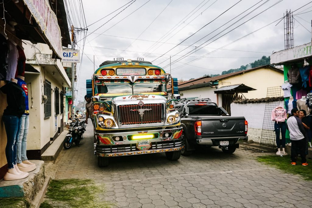 traditional and colorful Guatemala buses