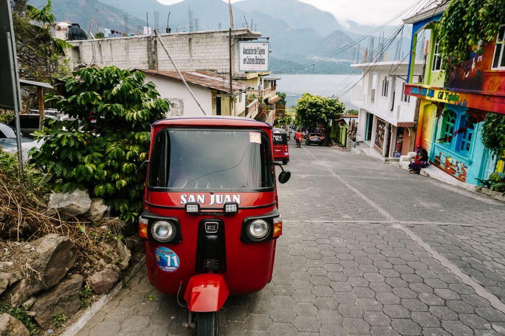 tuk tuk at Lake Atitlan Guatemala