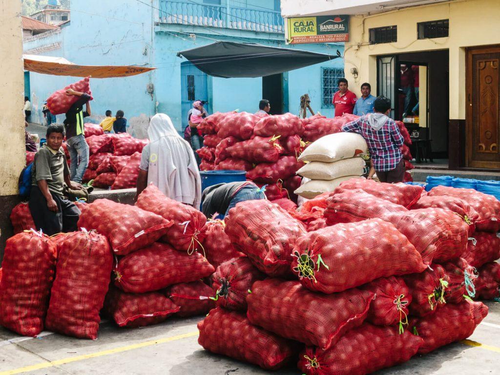 market in Santiago de Atitlan Guatemala