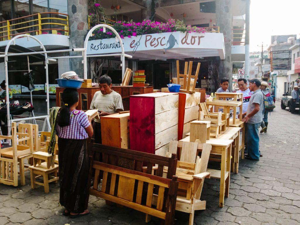 streets in Santiago de Atitlan Guatemala