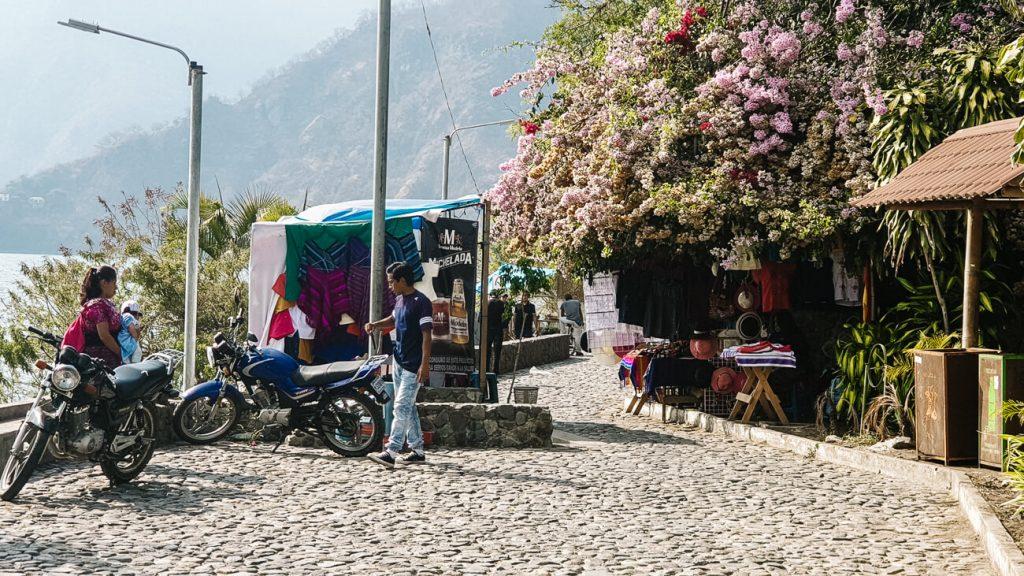 boulevard in Panajachel Lake Atitlan Guatemala