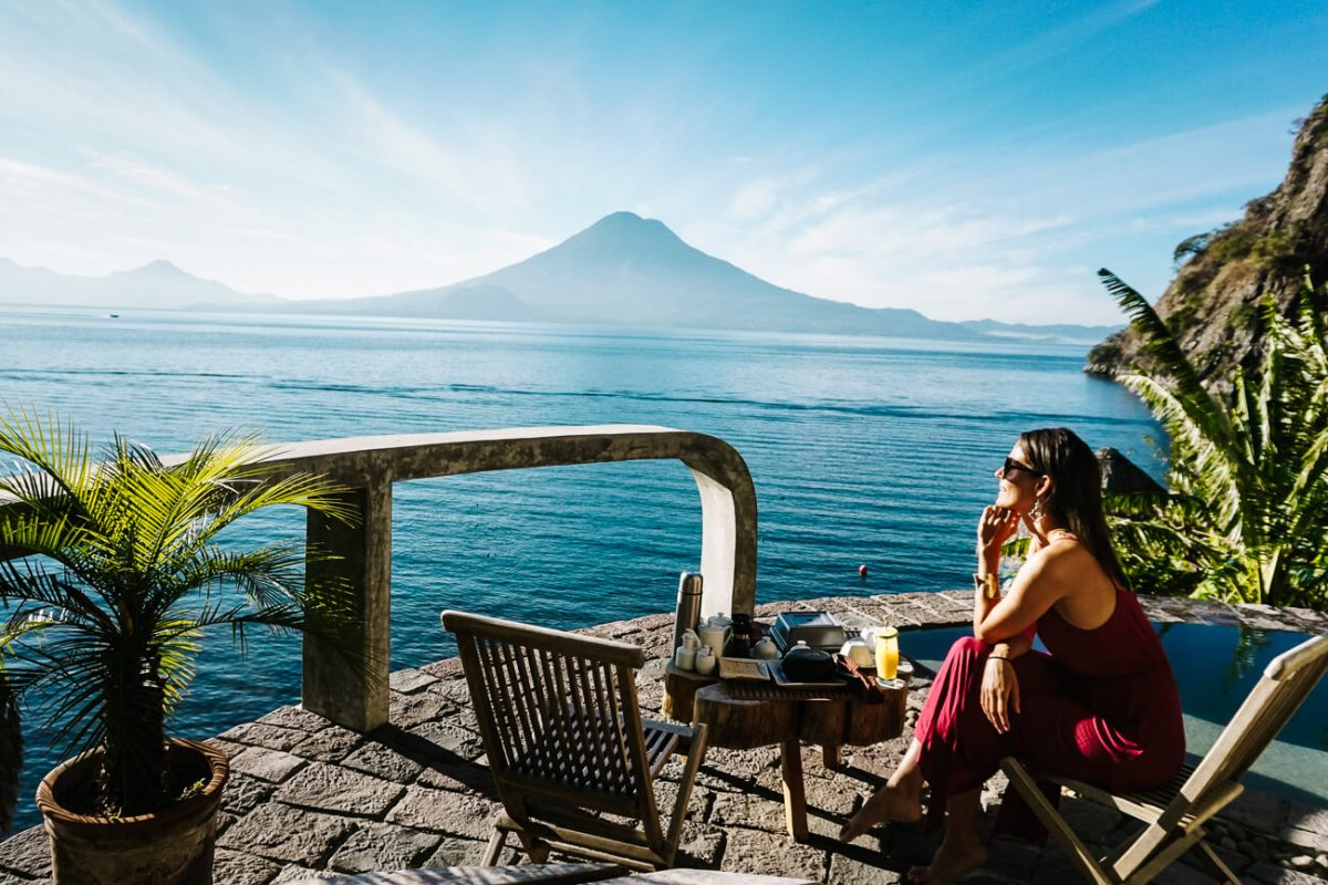 where to stay in Guatemala | La fortuna lake Atitan