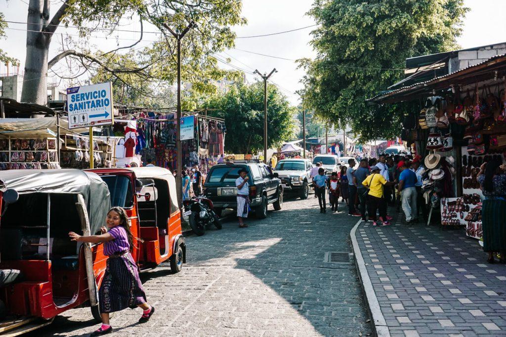 streets in Santiago de Atitlan