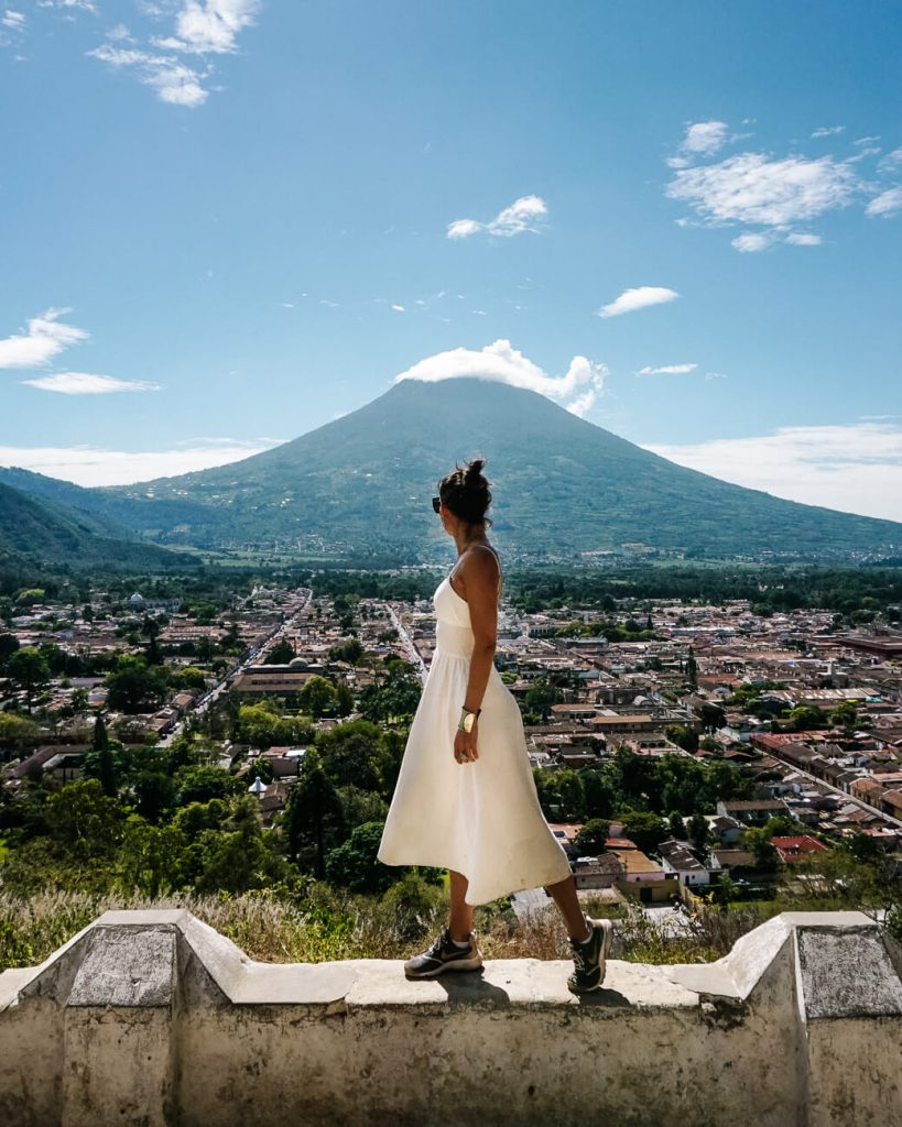 visit the viewpoint cerro de la cruz, one of the best things to do and see in Antigua guatemala