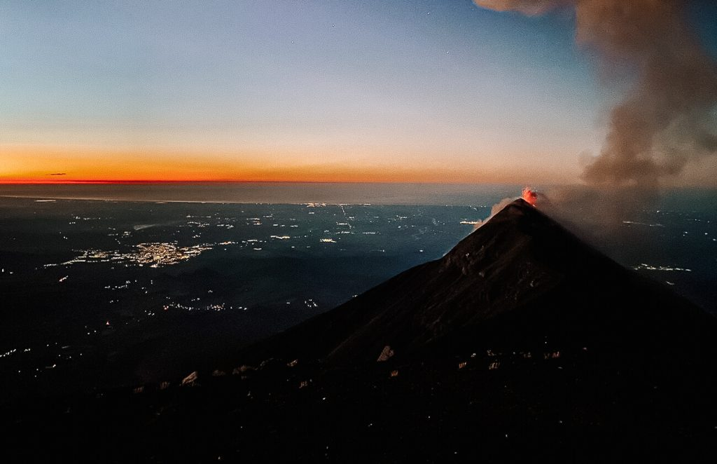 Acatenango view of the Fuego, top things to do in Guatemala