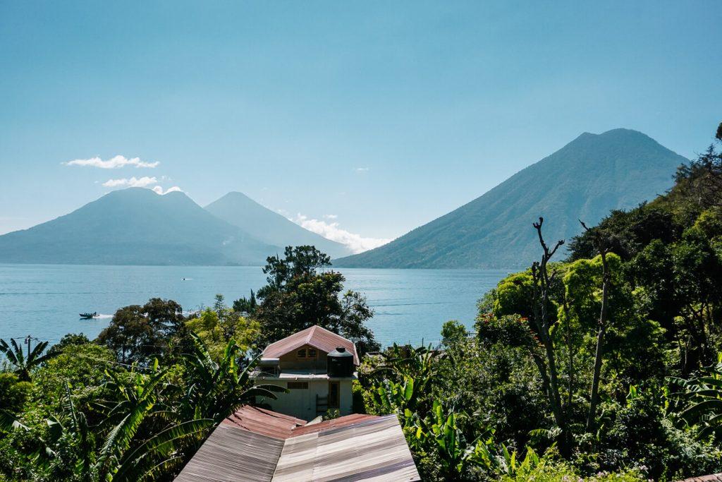 view of Lush atitlan, best hotels in lake Atitlan Guatemala