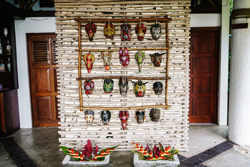 ceremoniele maskers in Guatemala