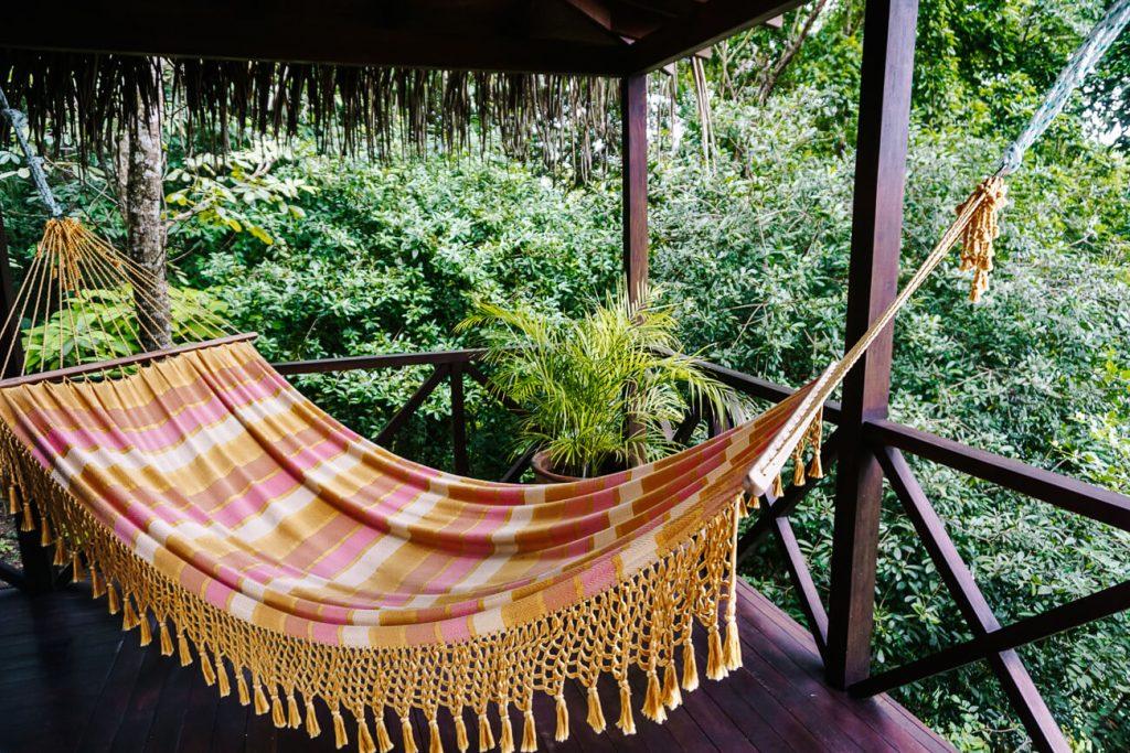 hangmat op terras van La Lancha