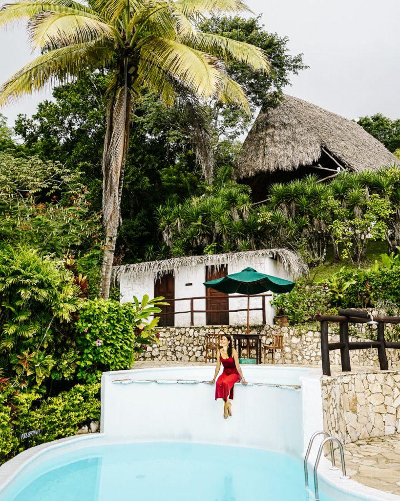 deborah durrfeld around pool at La Lancha by Coppola in Guatemala