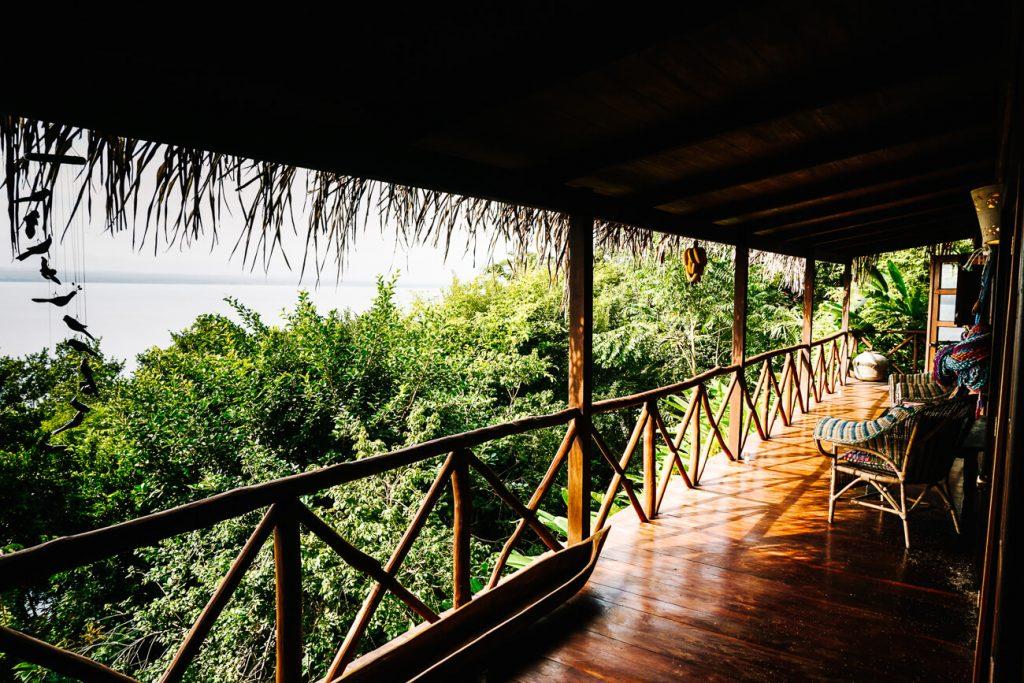balcony at La Lancha lodge