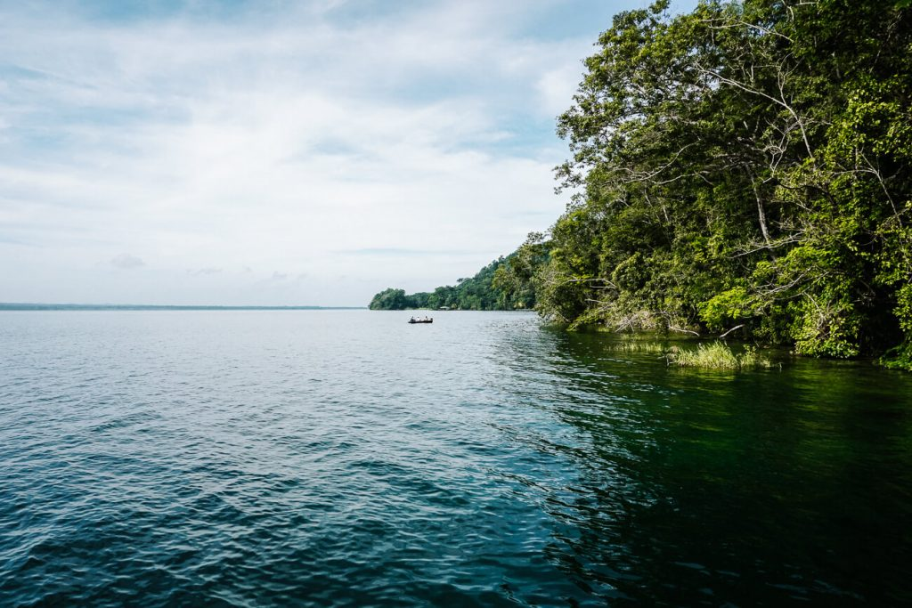 view of the lago peten itza