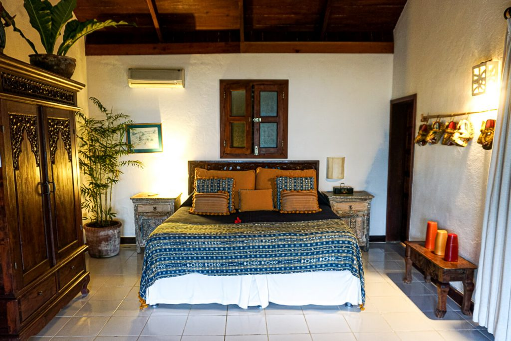 room of La Lancha resort, one of the best places to stay in Guatemala