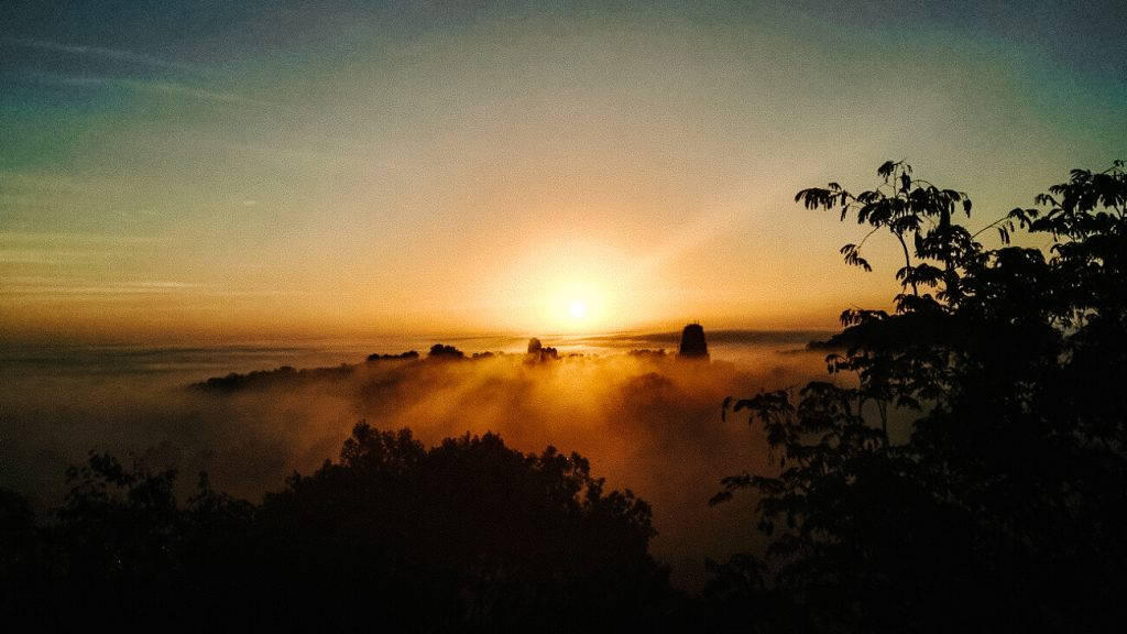 Innclude a sunrise in Tikal in your Guatemala 2 week Itinerary