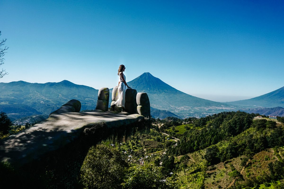 view of volcanoes | Guatemala itinerary 3 weeks